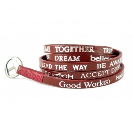 Bracelet red standard Good Work(s) Make a Difference