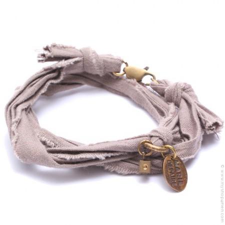 Bracelet vintage taupe