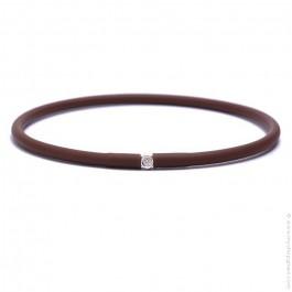 My first diamond chocolate brown bracelet