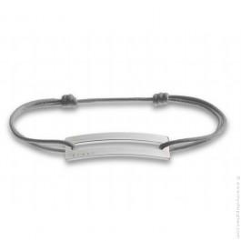 Bracelet Slide argent gris