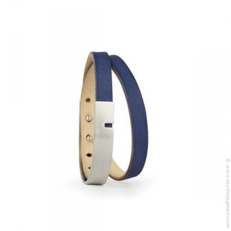 Bracelet U Turn argent jean
