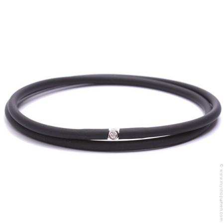Bracelet My first diamond double lien noir