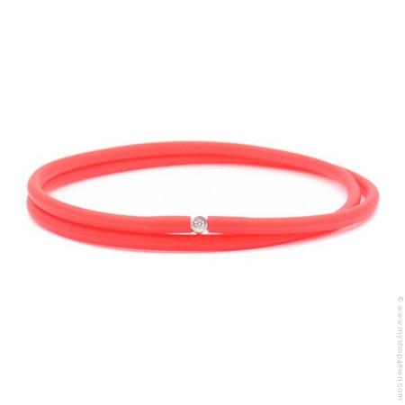 Bracelet My first diamond double lien rouge