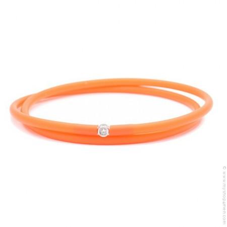 Bracelet My first diamond double lien orange