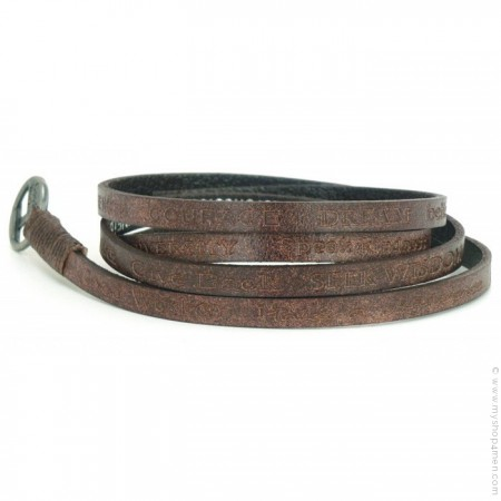 Bracelet Courage Vintage choco brown