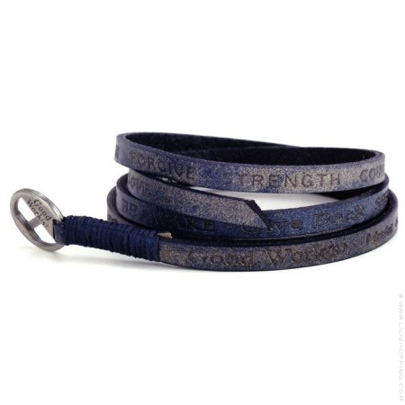 Bracelet Courage Vintage deep blue