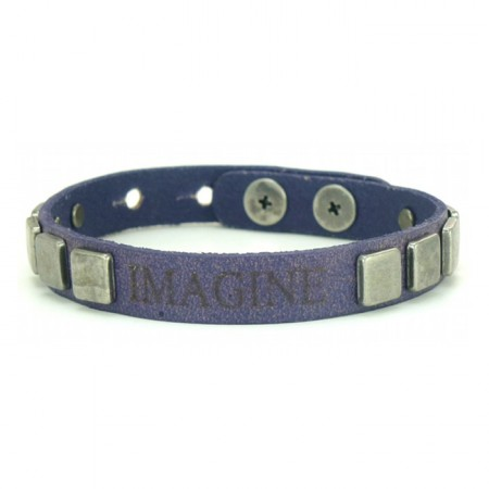 Bracelet Vintage Pyramid Imagine purple