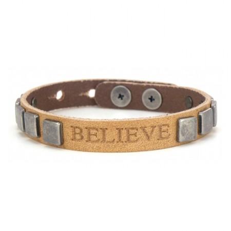 Believe natural courage vintage pyramid bracelet