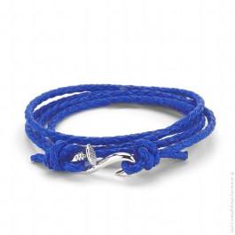 Bracelet clou argent et tressé bleu