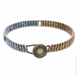 Bracelet Tommy Gun bleu kaki