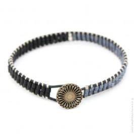Bracelet Tommy Gun bleu et noir