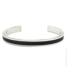 Silver platted brass bangle