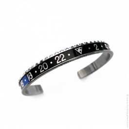 Speedometer Official black and blue bracelet