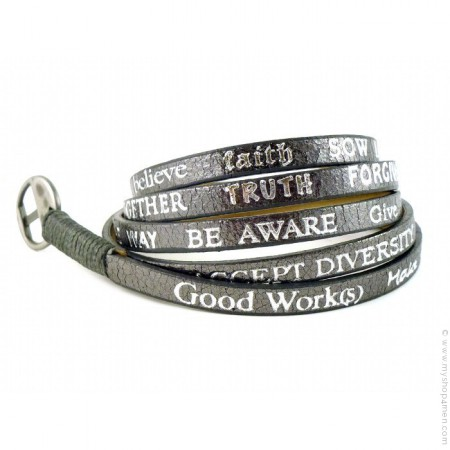 Standard Metallic gunmetal Bracelet