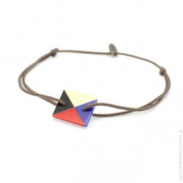 Bracelet drapeau en nacre 4 couleurs Sophie Deschamps