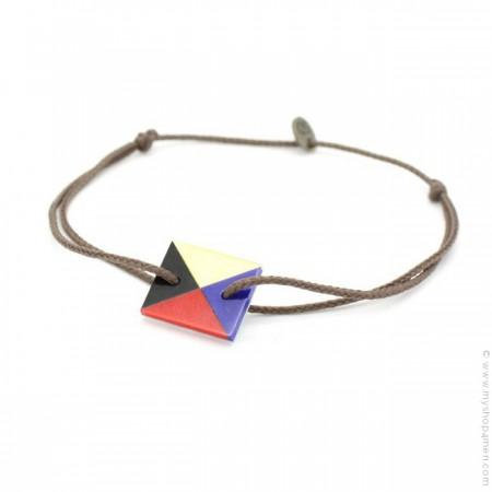 Bracelet drapeau 4 couleurs en nacre