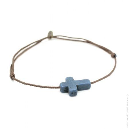 Bracelet croix bleue