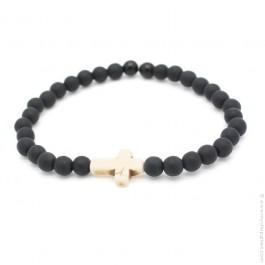 Bracelet croix ivoire
