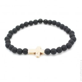 Ivory cross bracelet