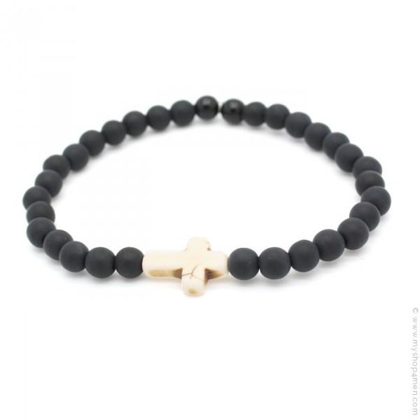 nouveau concept d7461 bbd2d Bracelet croix ivoire