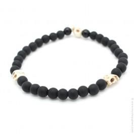 Ivory skulls bracelet