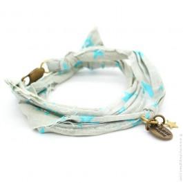 Bracelet Vintage étoiles turquoises