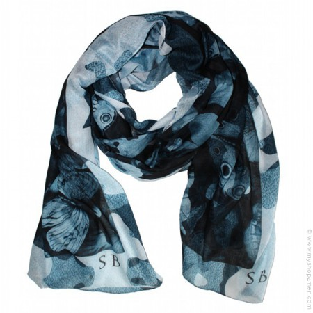 Blue Camoufly scarf