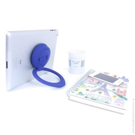 Poignée et support iPad bleu - tablettes