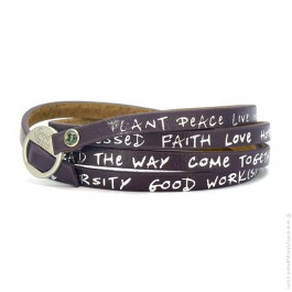 New regular eggplant bracelet
