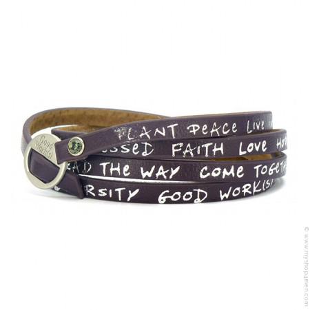 New regular eggplant bracelet