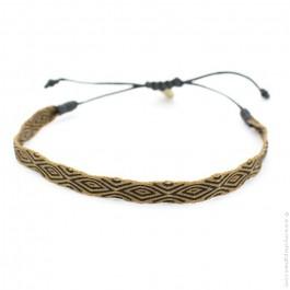 Bracelet Argentinas 120 brun et noir