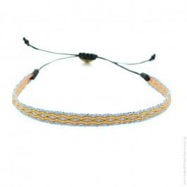 Bracelet Argentinas 120 gris et orange