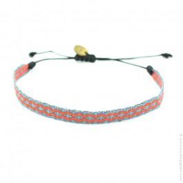 Bracelet Argentinas 120 gris et corail