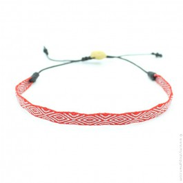 Bracelet Argentinas 120 rouge et argent