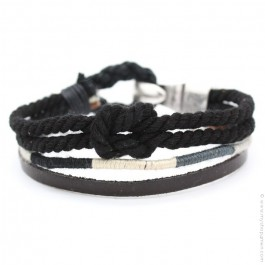Oscar black Hipanema bracelet for men