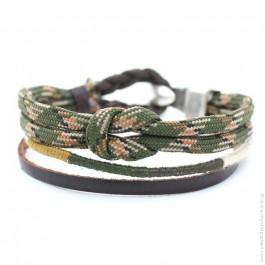 Bracelet Hipanema Oscar kaki