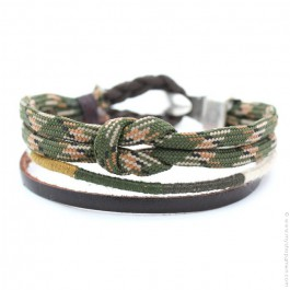 Oscar kaki Hipanema bracelet for men