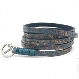 Bracelet Courage Vintage sea blue