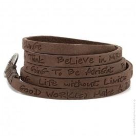 Toffee around eco believe you can bracelet