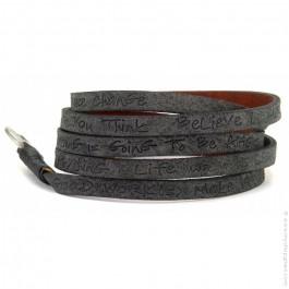 Black around eco believe you can bracelet