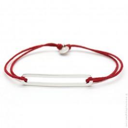Bracelet Figaro Slim rouge