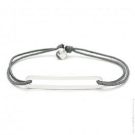 Bracelet Figaro Slim gris