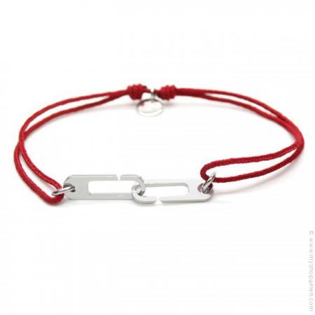 Bracelet argent Osmose rouge