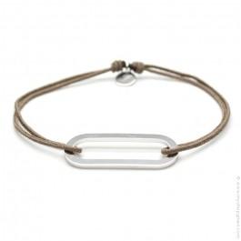 Bracelet Figaro taupe L'Avare by Olivier Lafond