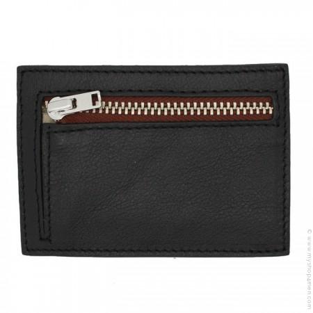 Porte monnaie - porte cartes havane et noir