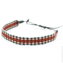 Bracelet maxi Argentinas noir et brique Guanabana