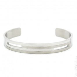 4 lines brushed and polished bangle