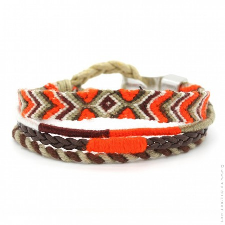 Bracelet Hipanema Leo orange