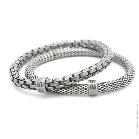 Bracelets Mr Snake argent ancien