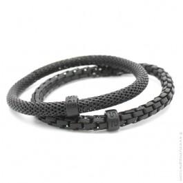 Black matte Mr Snake bracelets